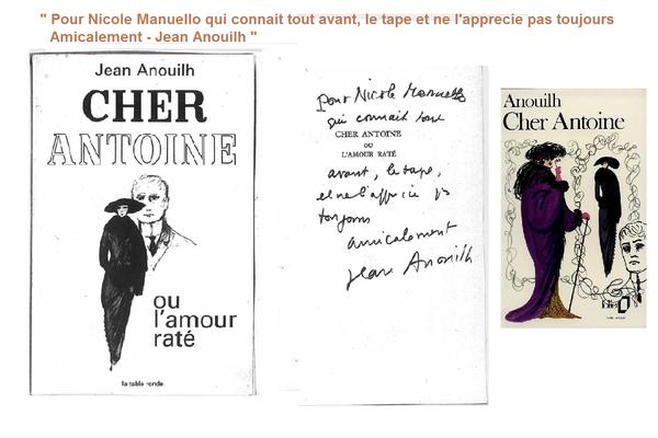 frappe manuscrit Anouilh
