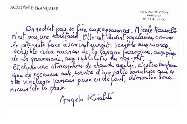 Transcription Angelo Rinaldi
