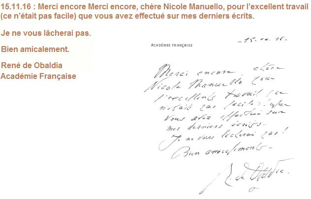 René de Obaldia - Académie Française
